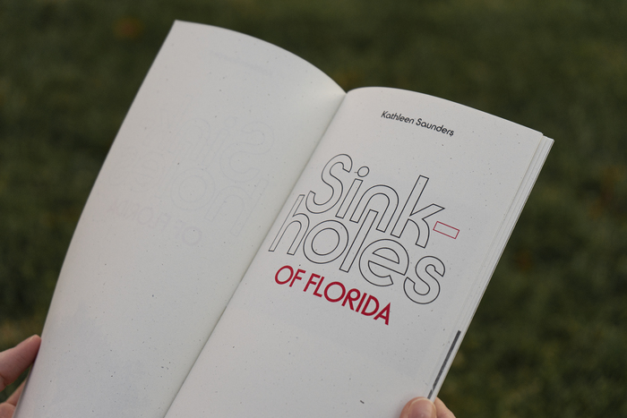 Sinkholes of Florida by Kathleen Saunders (Drum Machine Editions, 2020) 2