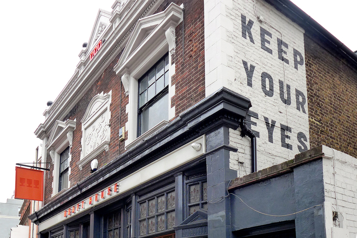 Draft House Hammersmith, which has hand painted lettering