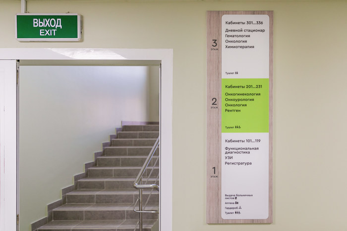 Moscow Cancer Center signage 4