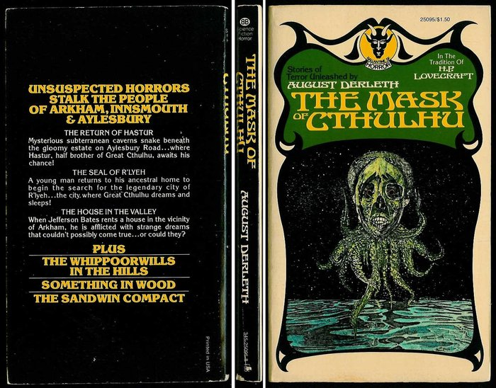 The Mask of Cthulhu with spine and back cover.