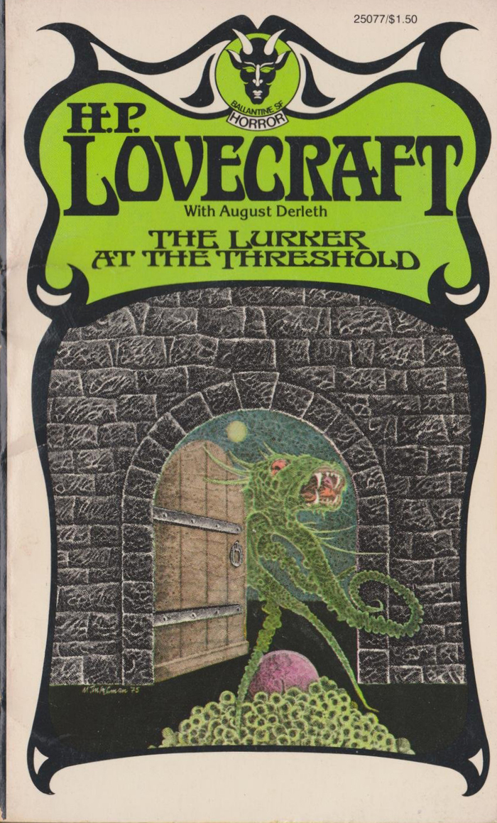 The Lurker at the Threshold, begun by H.P. Lovecraft and completed by August Derleth. [More info on ISFDB]