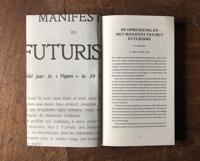 F. T. Marinetti – Futuristische Manifesten (Letterwerk) 3