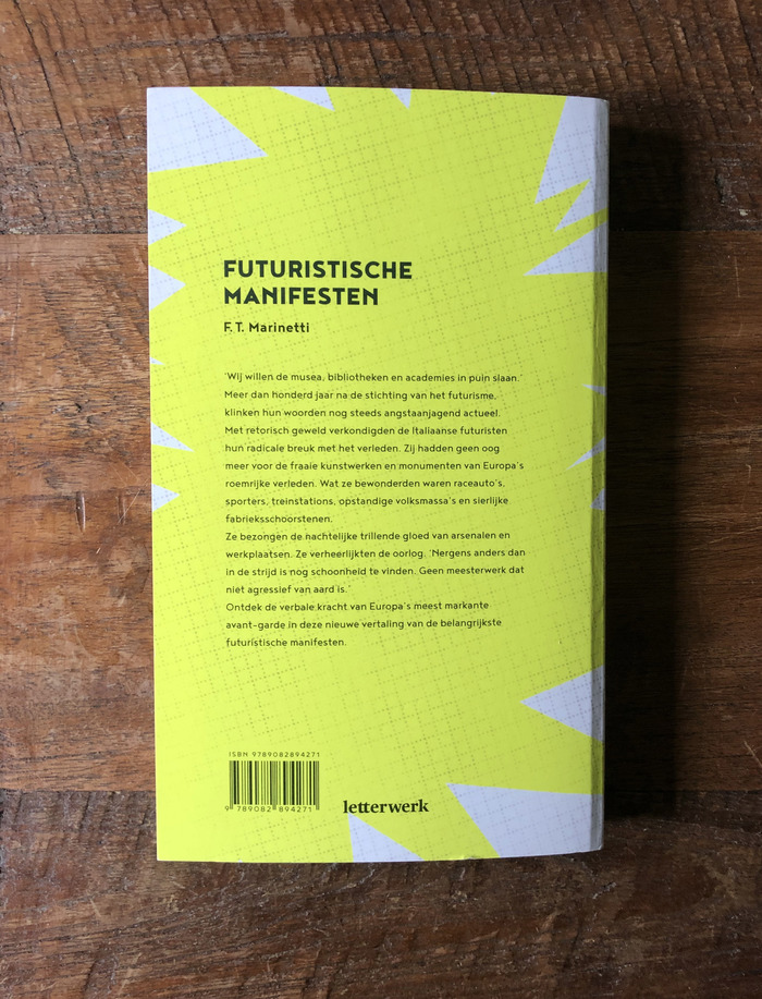 F. T. Marinetti – Futuristische Manifesten (Letterwerk) 5