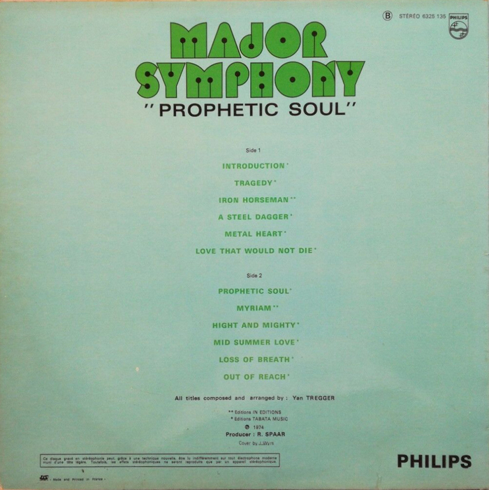 Prophetic Soul (1974), back cover.
