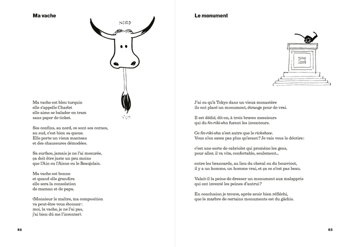 "Spread ft. ""Ma vache"" and ""Le monument""."