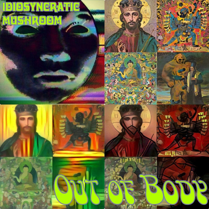 Out of Body EP, December 2020, ft.  and the left-leaning ., a font made by Keith Bates based on the 1960s psychedelic poster lettering by Victor Moscoso.