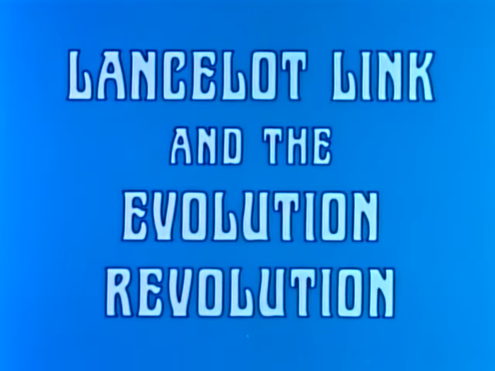 Title card from a music video. In the show, the band was introduced by Ed Simian, a riff on Ed Sullivan.