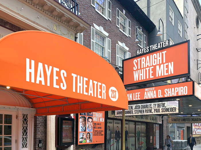 Helen Hayes Theater — located off-Broadway at 240 West 44th Street in Midtown Manhattan. With 597 seats, it is the smallest theatre on Broadway