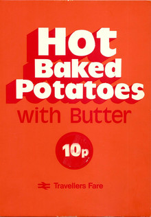 """Hot Baked Potatoes"" poster, British Rail"