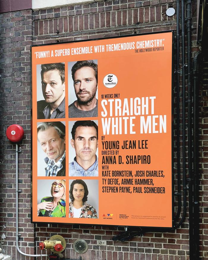 Helen Hayes Theater — poster for Straight White Men