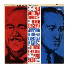 <cite>Paul Whiteman Conducts George Gershwin </cite>album art