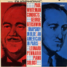 <cite>Paul Whiteman Conducts George Gershwin </cite>album art