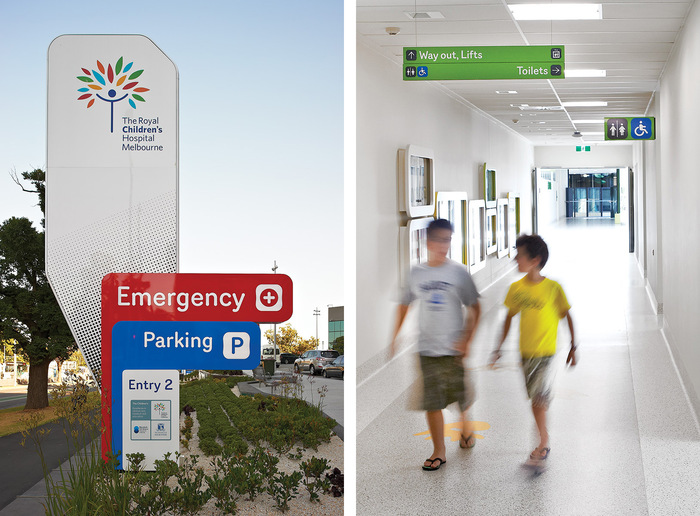 The Royal Children's Hospital Melbourne signage 6