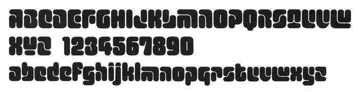 Glyph set of Typeshop's phototype adaptation of Turtle.