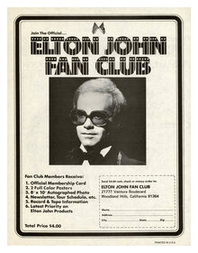 Elton John Fan Club ads (1974)