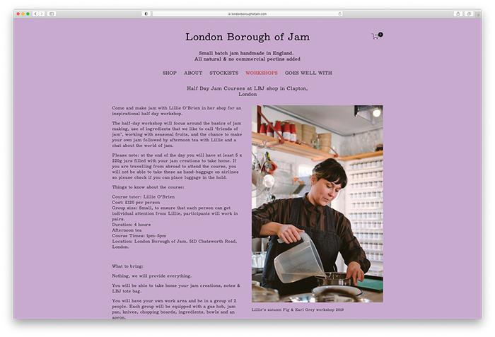 London Borough of Jam website (2020) 2