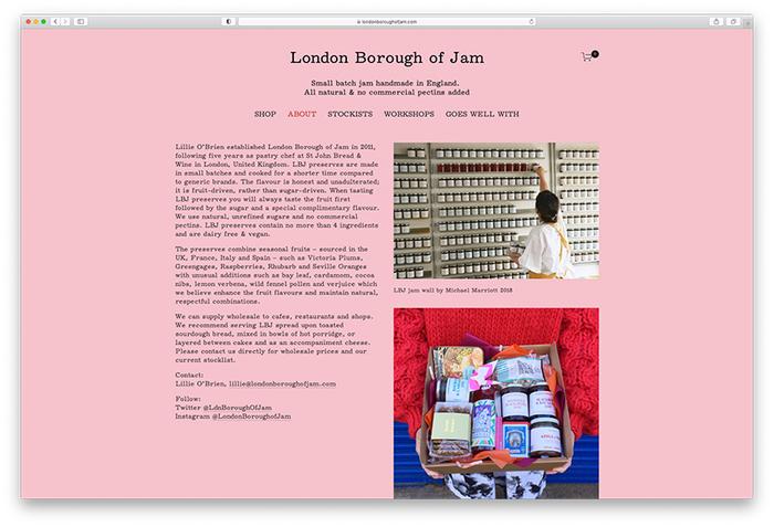 London Borough of Jam website (2020) 3