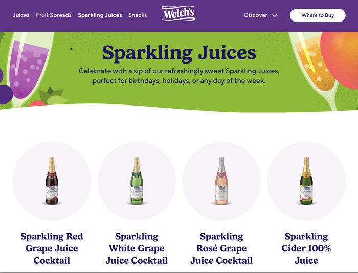 Welch's website 4