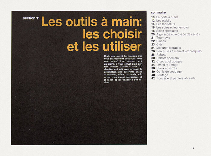 Reference: Manuel complet du bricolage, Reader's Digest Selection, 1975
