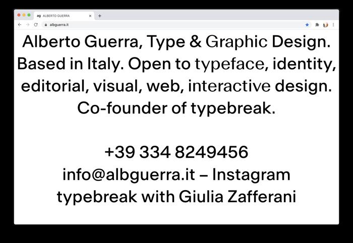 Alberto Guerra website 1
