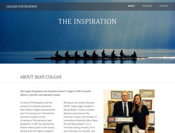 Colgan Foundation website 3