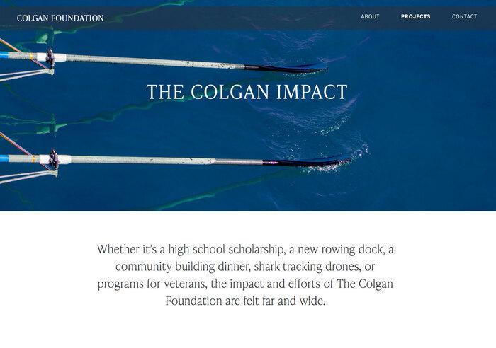 Colgan Foundation website 5