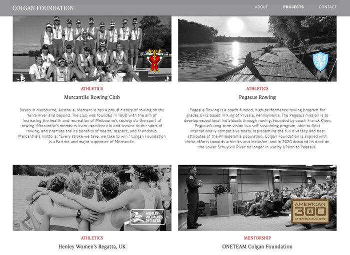 Colgan Foundation website 6