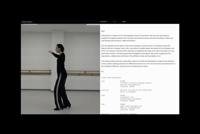 Sofía Castro, dancer and choreographer 3