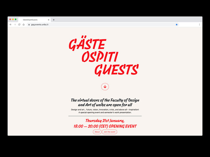 GOG – Gäste Ospiti Guests ws 20/21 at unibz 5