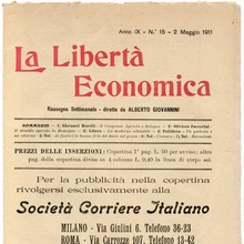<cite>La Libertà Economica</cite>, Vol. IX, No. 15, May 2, 1911
