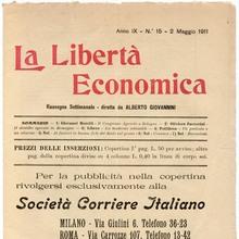<cite>La Libertà Economica</cite>, Vol. IX, No. 15, May 2, 1911