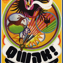 <cite>Qwak!</cite> video game flyer