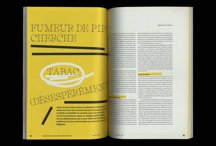 From Sphères no. 1, January 2020. Charon (Matthieu Visentin, ECAL Typefaces) in all caps.
