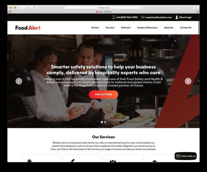 Food Alert website 2