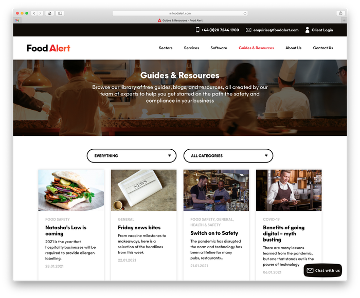 Food Alert website 5