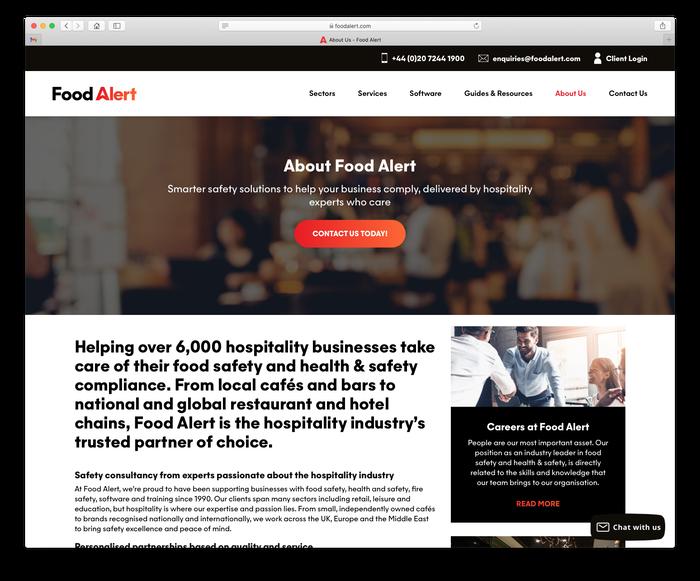Food Alert website 6