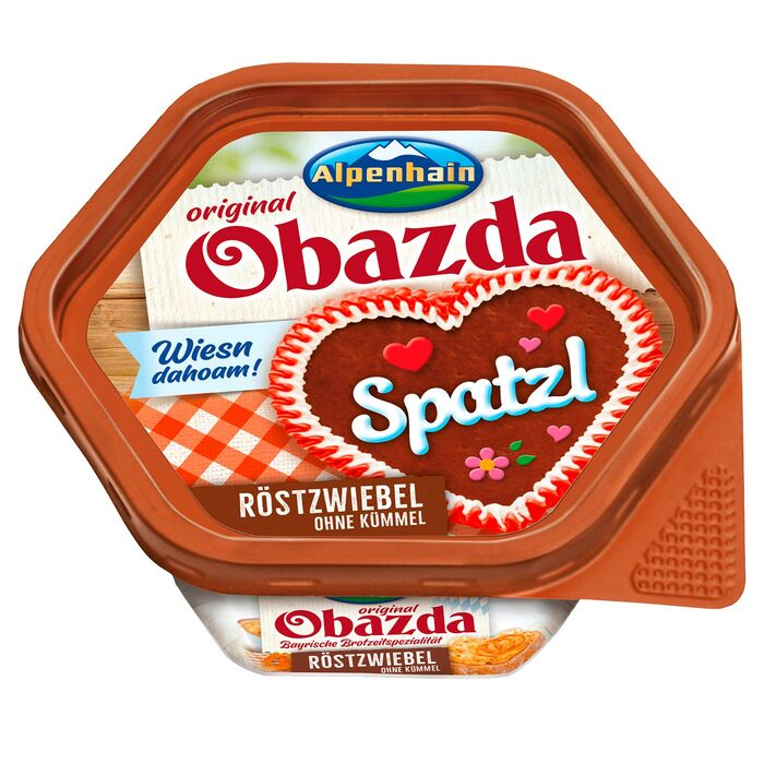 """A special """"Wiesn dahoam"""" edition sold during the Oktoberfest season additionally uses  (, 2013) for the script lettering on the gingerbread hearts."""