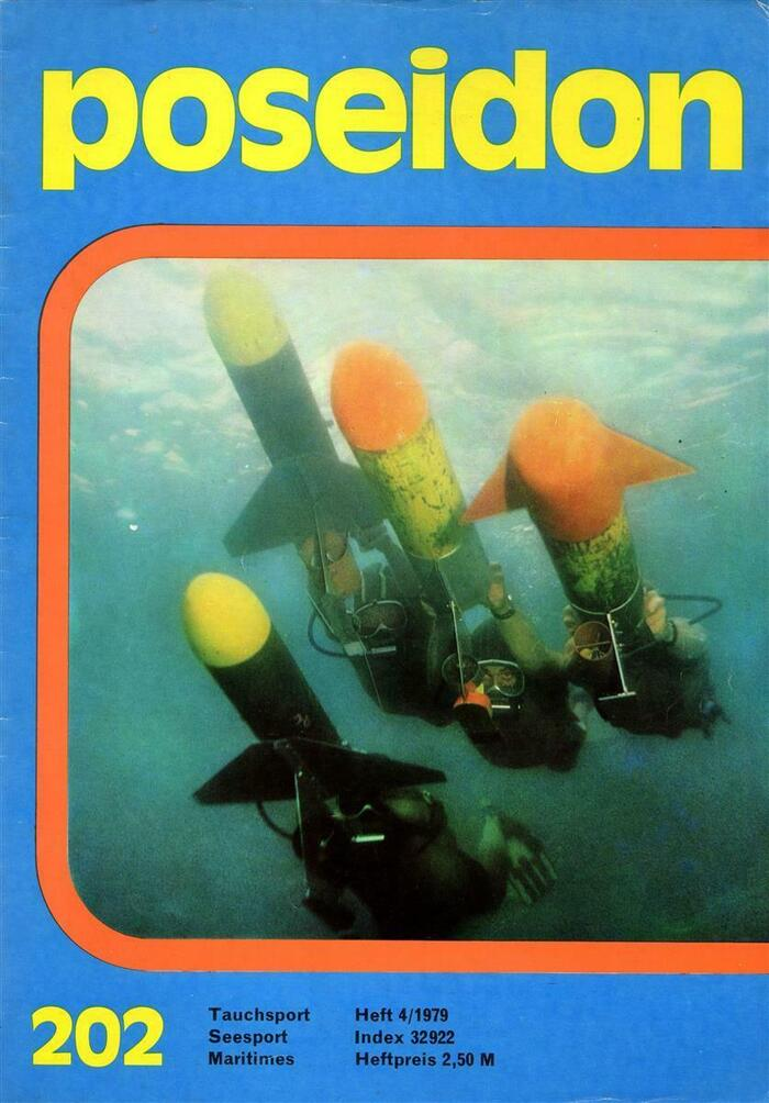 Cover of Poseidon No. 202 from 1979, ft.  for logo and number. The small text is in .