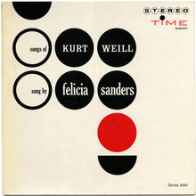Felicia Sanders – <cite>The Songs Of Kurt Weill</cite> album art