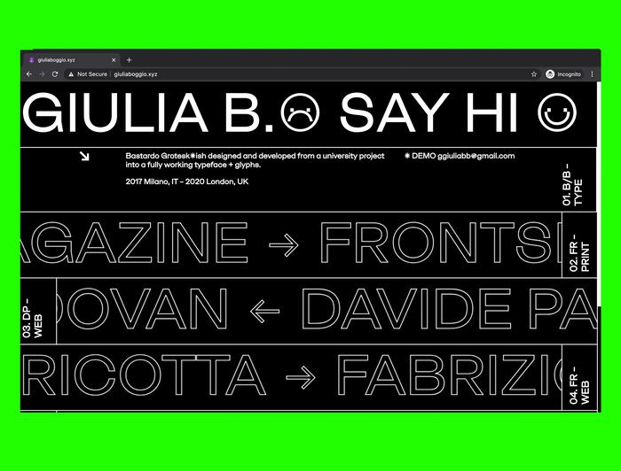 Giulia B. portfolio website 2