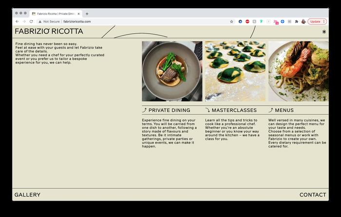 Fabrizio Ricotta website 1