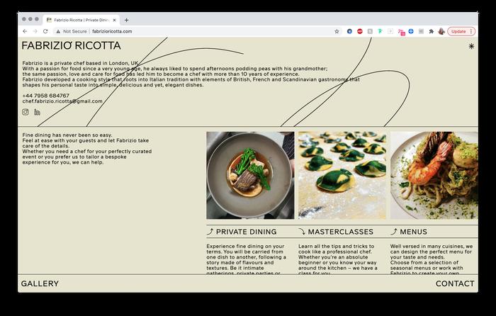 Fabrizio Ricotta website 3