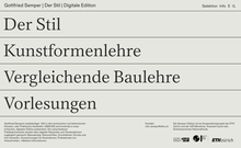 <cite>Gottfried Semper – Digital Edition</cite> website