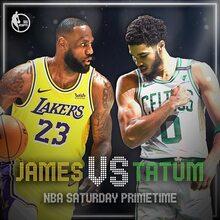 NBA Saturday Primetime promo ad and graphics