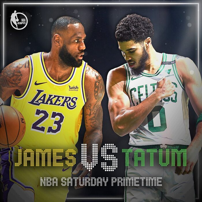 NBA Saturday Primetime promo ad and graphics 1