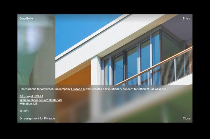 Gina Bolle portfolio website 5