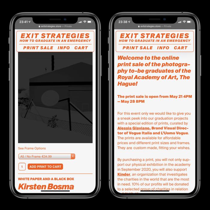 Exit Strategies online store 1