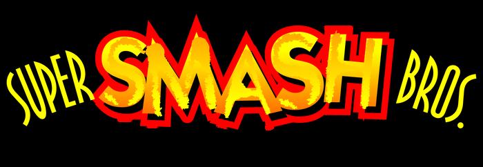 Super Smash Bros. 64's international logo (recreation).