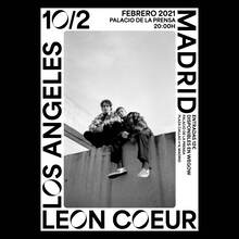 Leon Coeur at Palacio de la Prensa concert poster