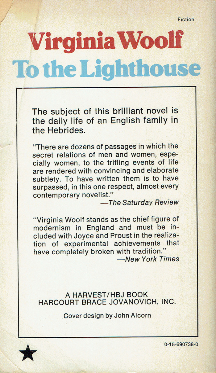 To the Lighthouse by Virginia Woolf (Harvest/HBJ, 1978) 2